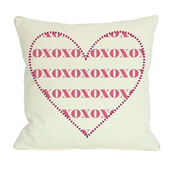 XOXO Heart Throw Pillow by One Bella Casa