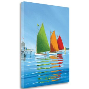 'Cape Cod Sail' Graphic Art Print on Wrapped Canvas by Tangletown Fine Art