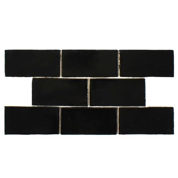 Tivoli 3 x 6 Ceramic Subway Tile in Black by EliteTile