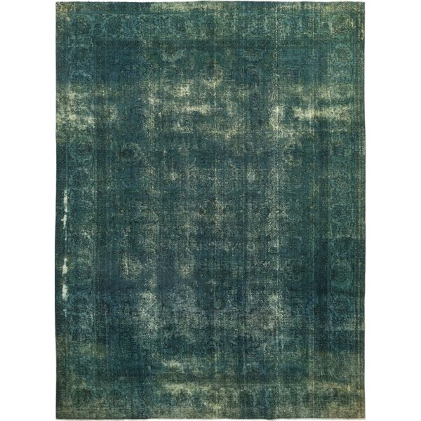 One-of-a-Kind Kley Hand-Knotted Wool Green Indoor Area Rug by Bloomsbury Market