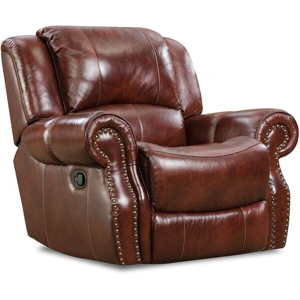 Additri Leather Manual Rocker Recliner by Darby Home Co Darby Home Co