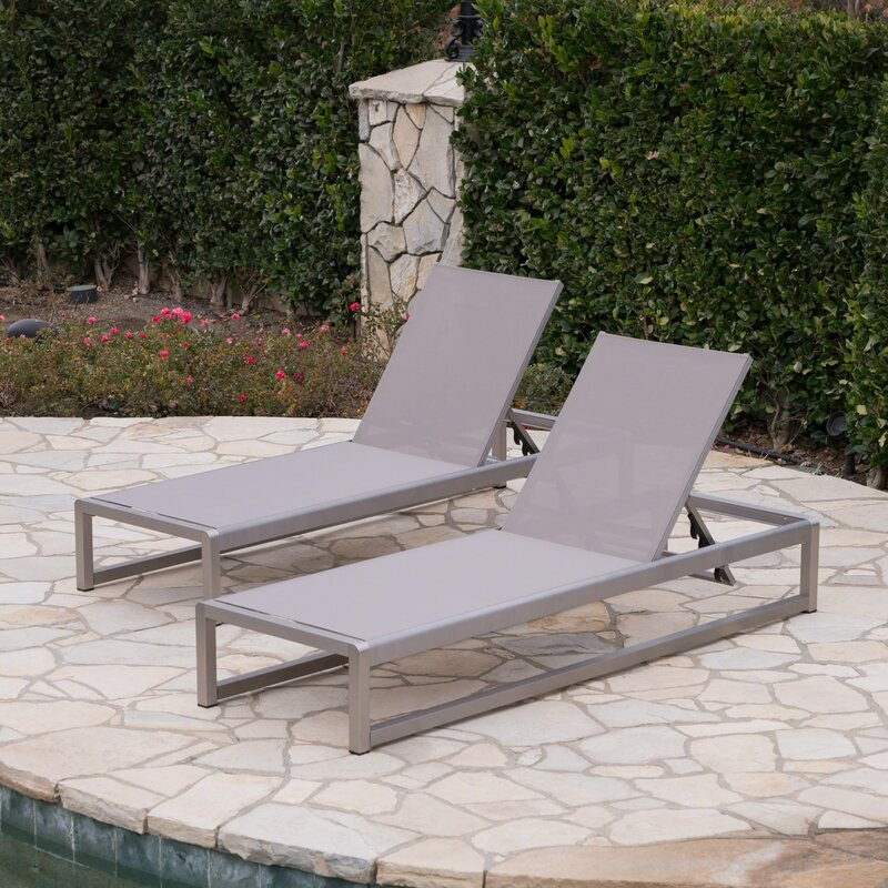 pool beach outdoor itm chaise adjustable folding yard furniture chair recliner lounge patio