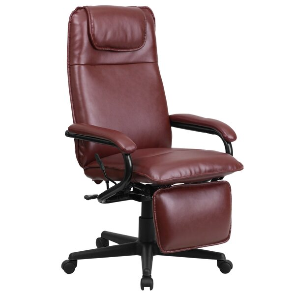Gwynn Leather Executive Chair by Alcott Hill