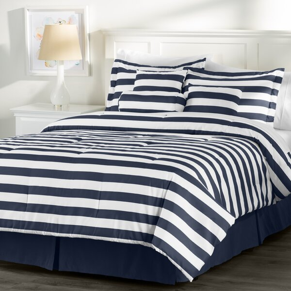 Wayfair Basics 7 Piece Striped Comforter Set by Wayfair Basics™