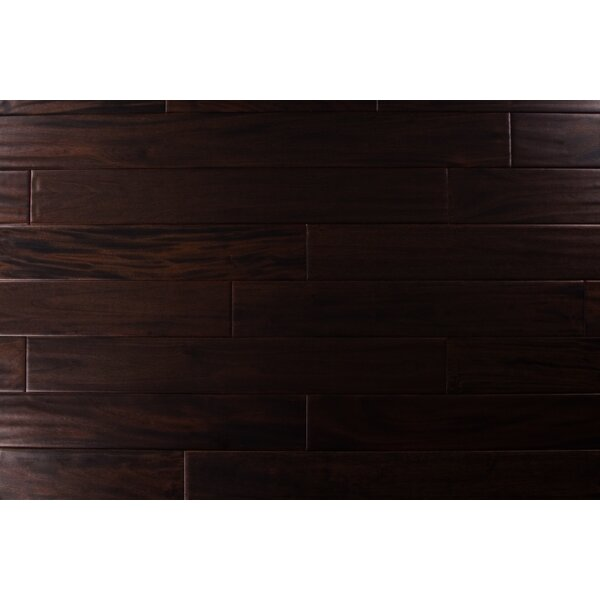 4.75 Solid Mahogany Hardwood Flooring in Dark Ebony by Albero Valley