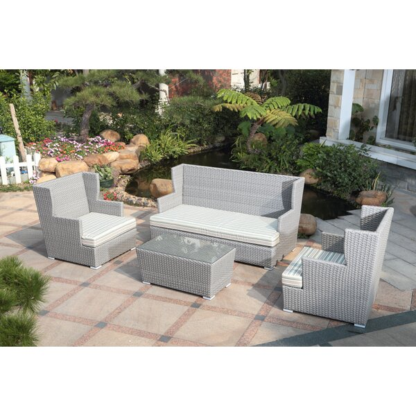 Sattler 4 Piece Sofa Set with Cushions by Latitude Run