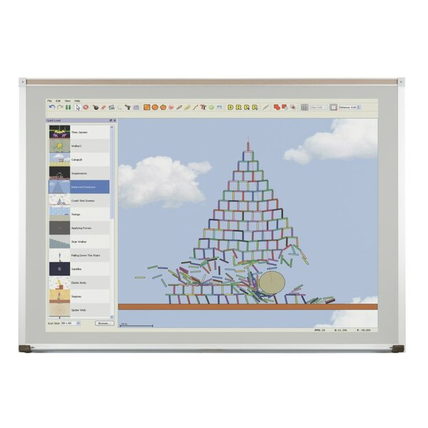 Evolution Projection Wall Mounted Whiteboard by Best-Rite®