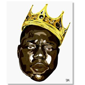 'The Notorious B.I.G.' by Delano Limoen Graphic Art on Wrapped Canvas by Curioos