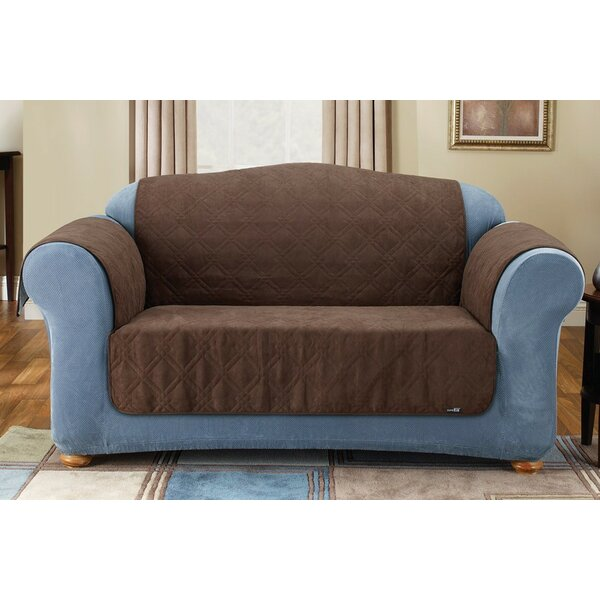 Best #1 Soft Suede Box Cushion Sofa Slipcover By Sure Fit
