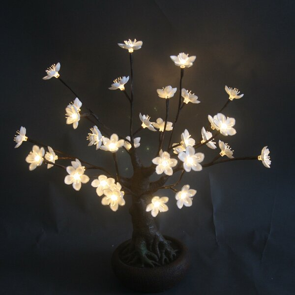 Bonsai Tree with Flower and 36 LED Lights by Hi-Line Gift Ltd.