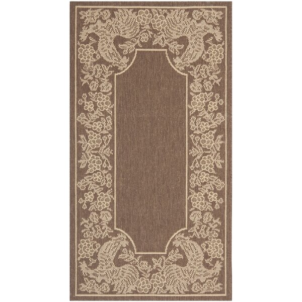 Margo Chocolate/Natural Indoor/Outdoor Area Rug by August Grove