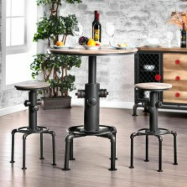 Mildred 3 Piece Dining Set by 17 Stories