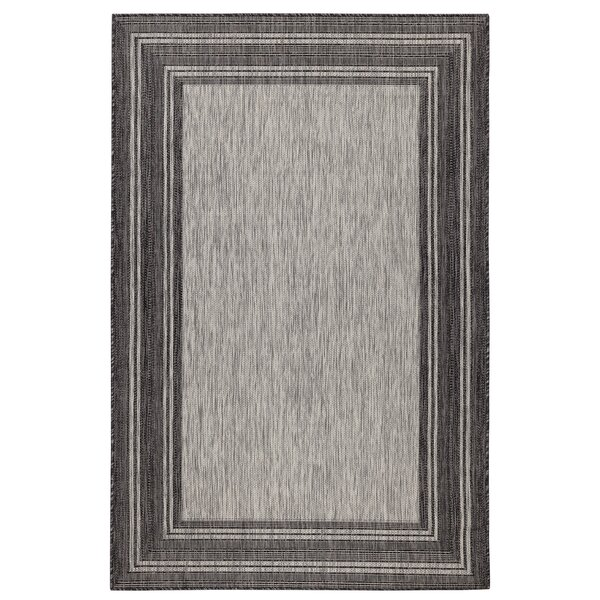 Desantiago Gray Indoor/Outdoor Area Rug by Highland Dunes
