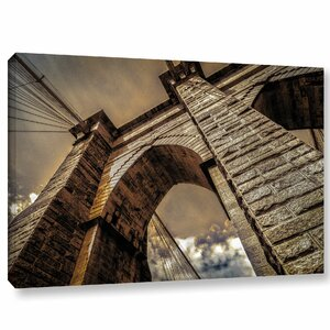 Brooklyn Bridge Photographic Print on Wrapped Canvas by Latitude Run