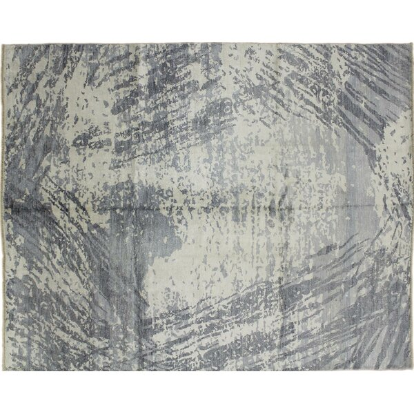 One-of-a-Kind Oushak Super Fine Nurik Hand-Knotted Gray Area Rug by Noori Rug