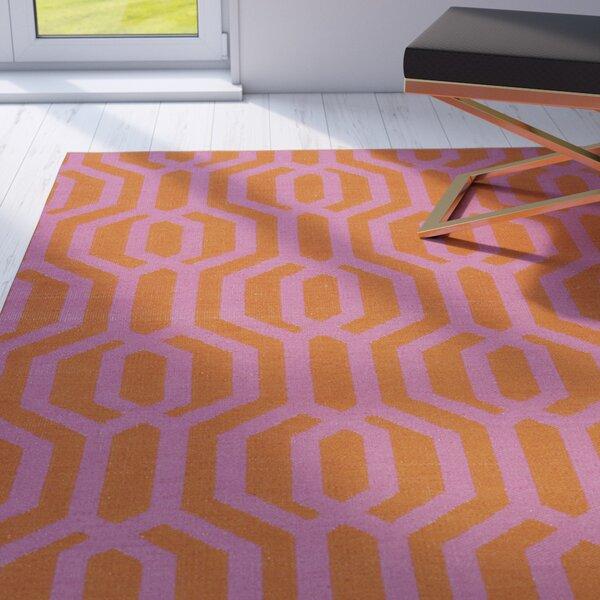 Camillei Orange/Pink Indoor/Outdoor Area Rug by Willa Arlo Interiors