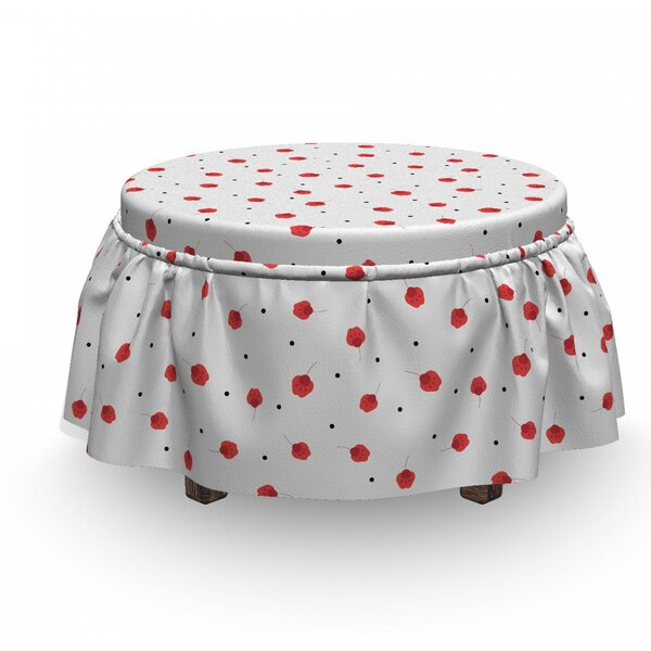 Patio Furniture Calico Bloom Ottoman Slipcover (Set Of 2)