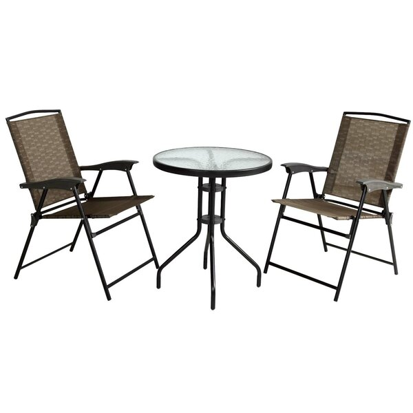 Stocker Folding Chair and Table 3 Piece Bistro Set by Ebern Designs