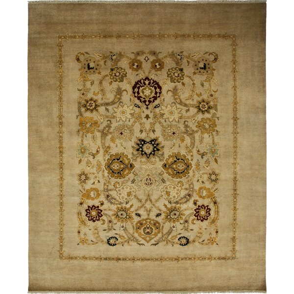 One-of-a-Kind Ottoman Hand-Knotted Sand Area Rug by Solo Rugs