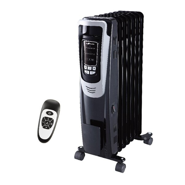 Ecohouzng 1,500 Watt Portable Electric Radiant Radiator Heater by Homevision Technology