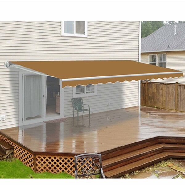 20 Ft W X 10 Ft D Retractable Patio Awning By Aleko.