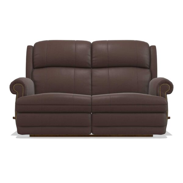 Kirkwood Reclina-Way® Full Leather Reclining Loveseat by La-Z-Boy