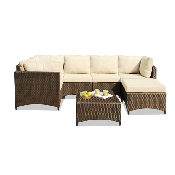 Decorah 7 Piece Sectional Seating Group with Cushions by Ebern Designs