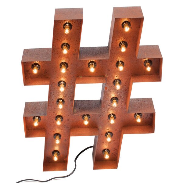 Hashtag Vintage Marquee Sign by PoliVaz