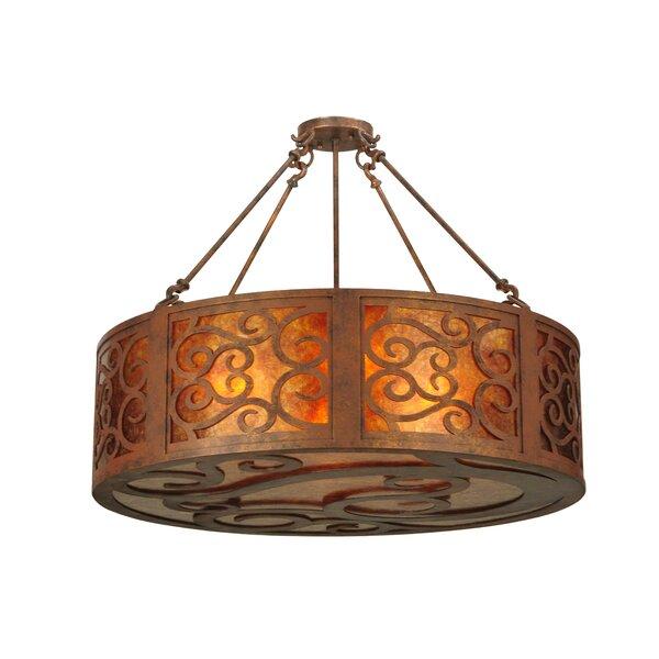 4 - Light Lantern Drum Chandelier By Meyda Tiffany