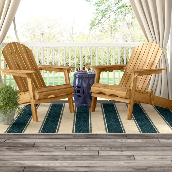 Boone Wood Folding Adirondack Chair (Set of 2) by