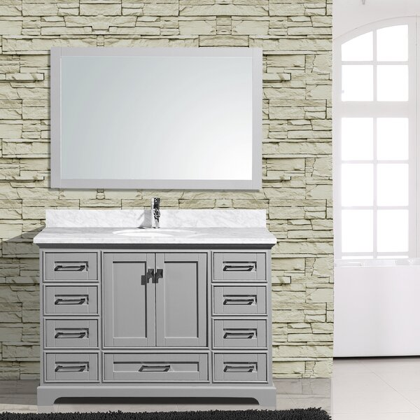Frieda 48 Single Bathroom Vanity with Mirror by Gracie Oaks