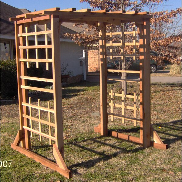 Deluxe Cedar Wood Arbor by Threeman Products