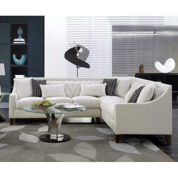 Zivah Solid L-Shaped Sectional By Willa Arlo Interiors