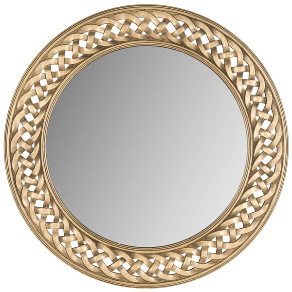 Spadaro Round Braided Chain Wall Mirror by Darby Home Co