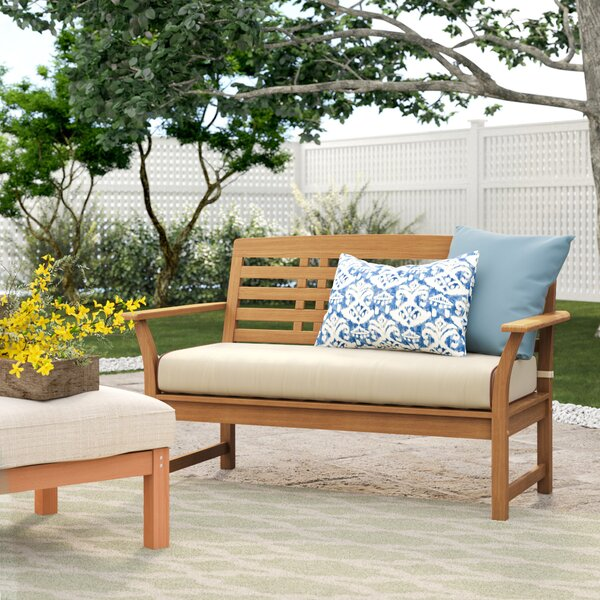 Calila Teak Loveseat with Cushion by Birch Lane™ Heritage