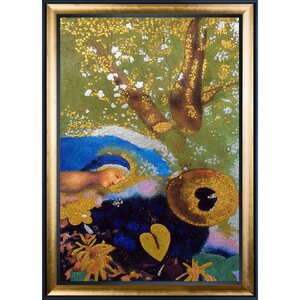Homage to Leonardo Da Vinci, 1908, Metallic Embellished by Odilon Redon Framed Painting by Tori Home