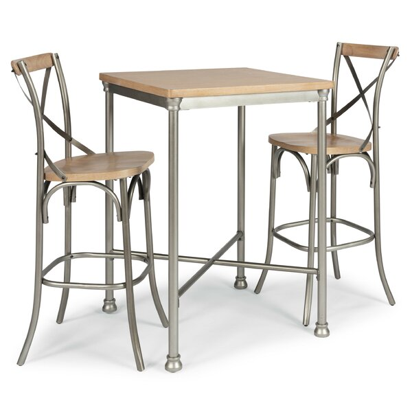 Hamann 3 Piece Pub Table Set (Set of 3) by Williston Forge