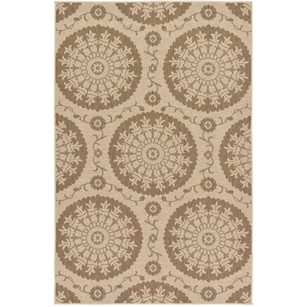 Foreside Beige Area Rug by Charlton Home
