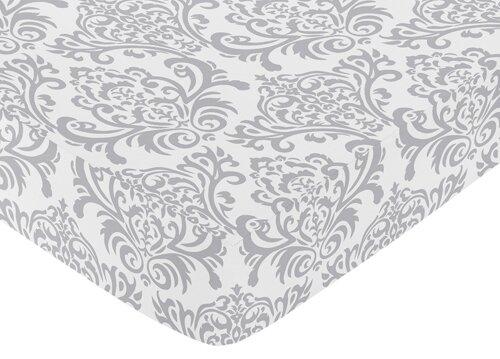 Elizabeth Damask Print Fitted Crib Sheet by Sweet Jojo Designs