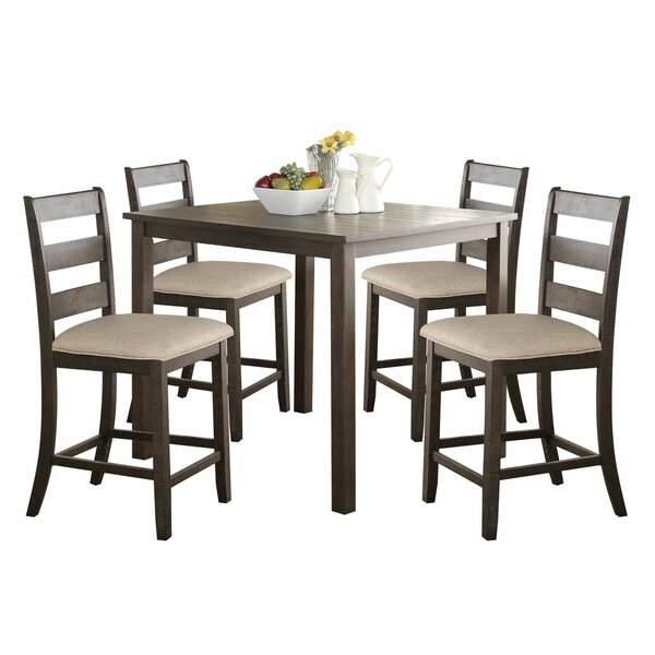 Kowalczyk 5 Piece Counter Height Dining Set By Gracie Oaks