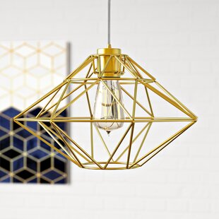 Best Reviews Alcorn Lake 1-Light Geometric Pendant By Langley Street