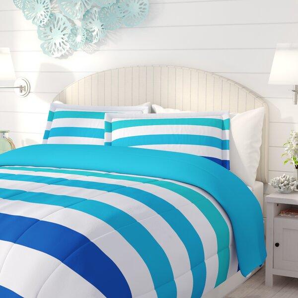 Flora Reversible Comforter Set by Beachcrest Home