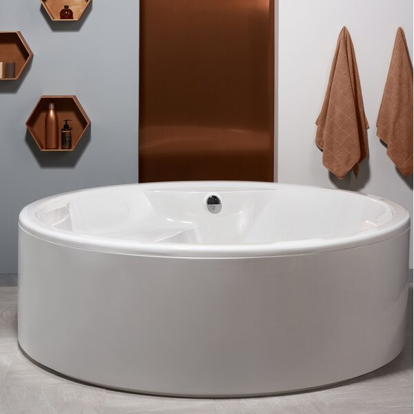 Allegra 74.75 x 74.75 Soaking Bathtub by Aquatica