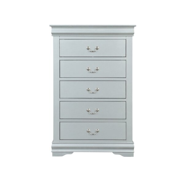 Petties Spacious Wooden 5 Drawers Chest by Charlton Home