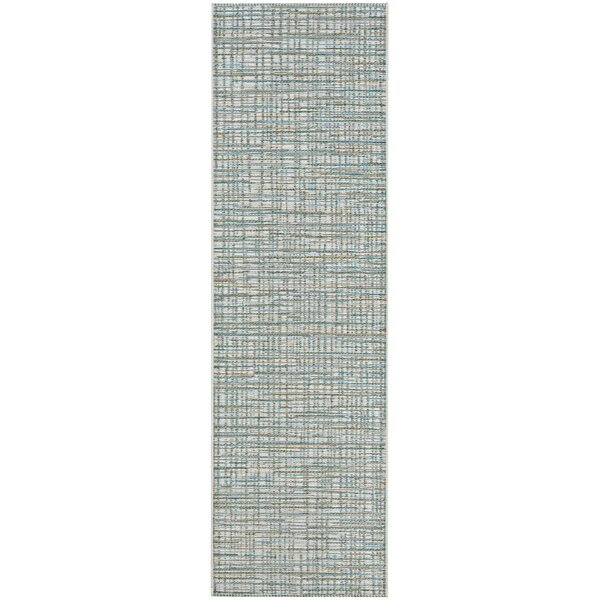 Carone Ivory/Hunter Indoor/Outdoor Area Rug by Charlton Home