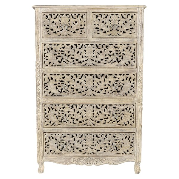 Buena Park Carved 6 Drawer Chest by Bungalow Rose