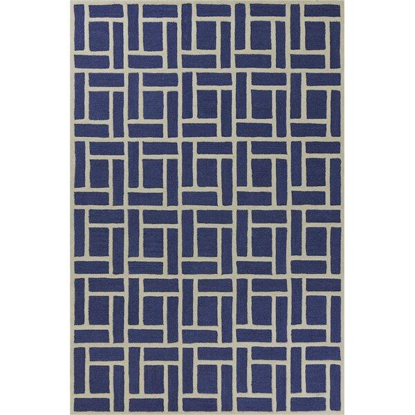 Soho Brick Hand-Tufted Wool Indigo Area Rug by Libby Langdon