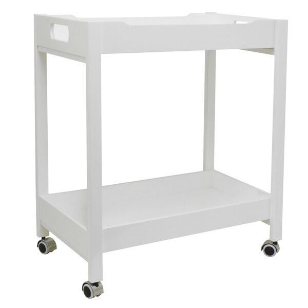 Stecker Simple Wood Bar Cart by Winston Porter
