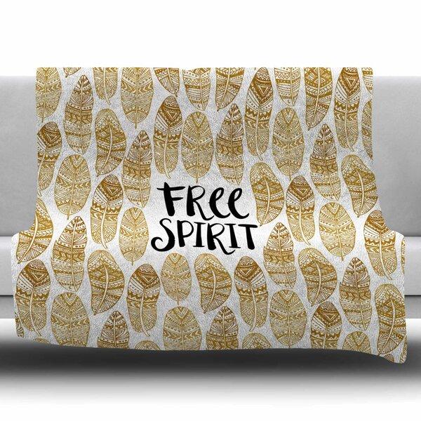 Free Tribal Spirit by Pom Graphics Fleece Blanket by East Urban Home