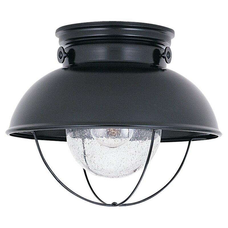 Corbel 1 Light Outdoor Flush Mount
